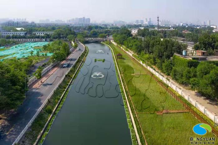 海绵城市建设复兴河长泰河水环境生态修复工程施工后效果图