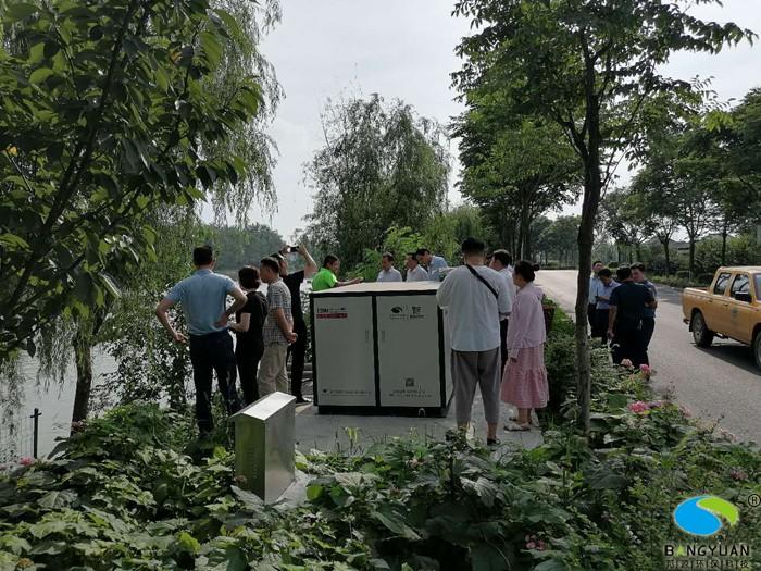 扬州市环保局、高邮市主管部门领导跟我司负责此项目的项目经理进行详细沟通交流